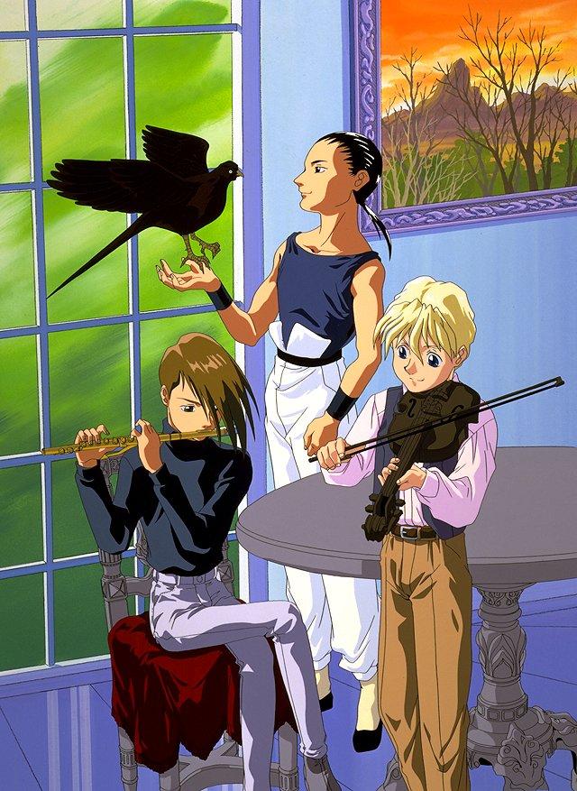 Gundam Pilots Trowa, Quatre and Wufei