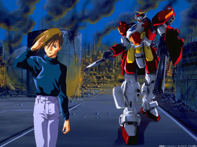 Trowa and Gundam